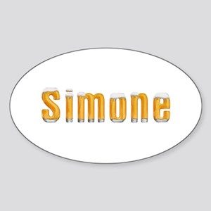 Simone Beer Oval Sticker