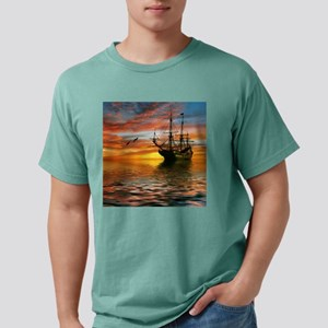 Pirate Ship Mens Comfort Colors Shirt