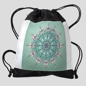 Vintage Floral Drawstring Bag