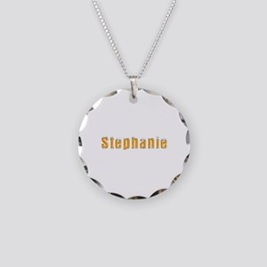 Stephanie Beer Necklace Circle Charm