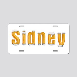 Sidney Beer Aluminum License Plate