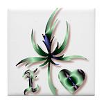 I Love Mary Jane Tile Coaster