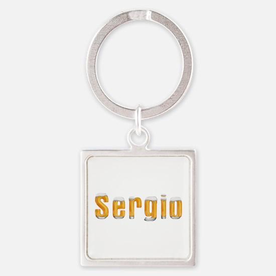 Sergio Beer Square Keychain