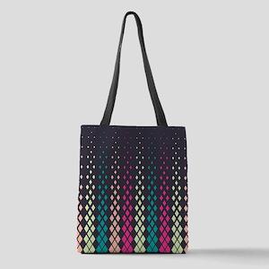 Geometric Pattern Polyester Tote Bag