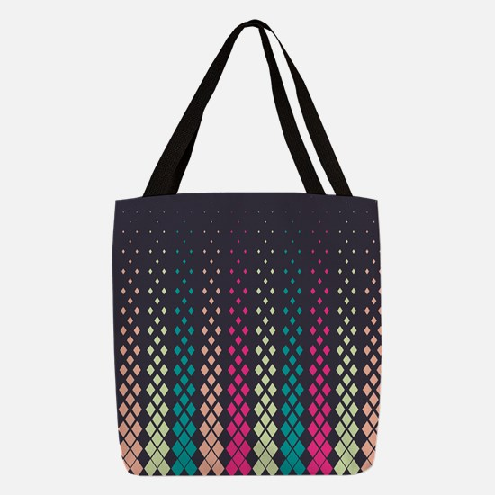Geometric Pattern Polyester Tote Bag