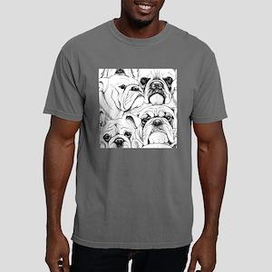 Bulldog Collage Mens Comfort Colors Shirt