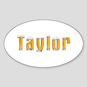 Taylor Beer Oval Sticker