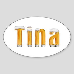 Tina Beer Oval Sticker