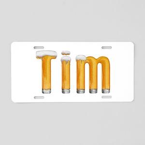 Tim Beer Aluminum License Plate