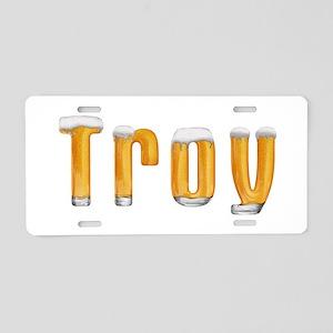 Troy Beer Aluminum License Plate