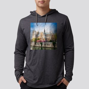 Notre Dame Cathedral Mens Hooded Shirt