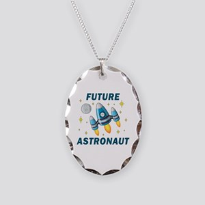 Future Astronaut (Boy) - Necklace Oval Charm
