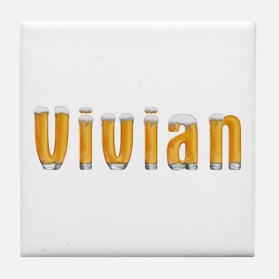 Vivian Beer Tile Coaster