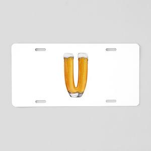 V Beer Aluminum License Plate