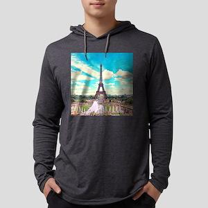 Paris Mens Hooded Shirt