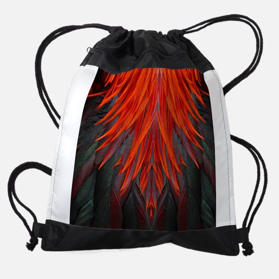 Abstract Feathers Drawstring Bag