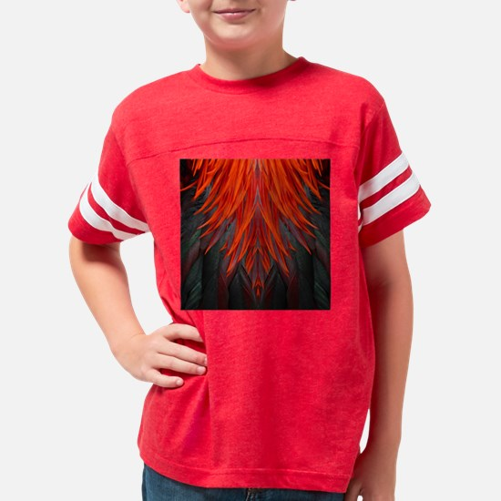 Abstract Feathers Youth Football Shirt