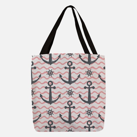 Anchors Polyester Tote Bag