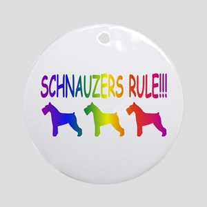 Schnauzer Ornament (Round)
