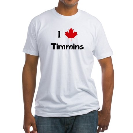 I Love Timmins Fitted T-Shirt