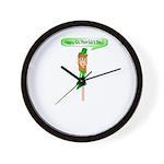 Happy St. Pats! Wall Clock