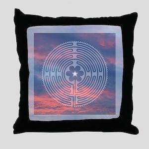 Sunrise Labyrinth Throw Pillow