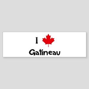 I Love Gatineau Bumper Sticker