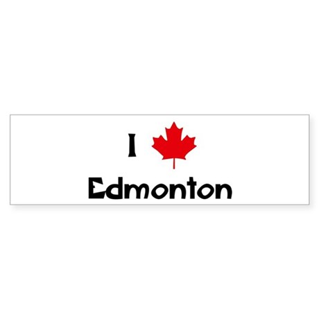 I Love Edmonton Bumper Sticker