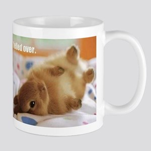 Cute bunny fell over Mug