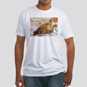 Cute bunny fell over Fitted T-Shirt