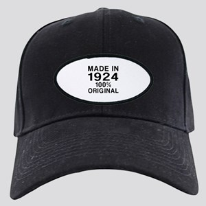Made In 1924 Black Cap with Patch