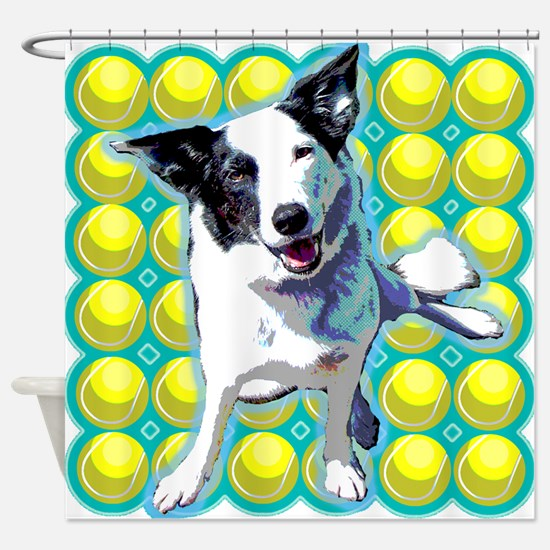 Border Collie Pop Art Shower Curtain