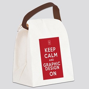 Keep Calm and Graphic Design On Canvas Lunch Bag