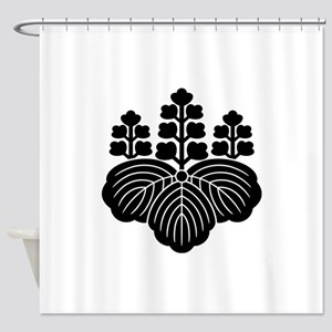 Paulownia with 5-7 blooms Shower Curtain