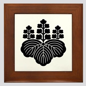 Paulownia with 5-7 blooms Framed Tile