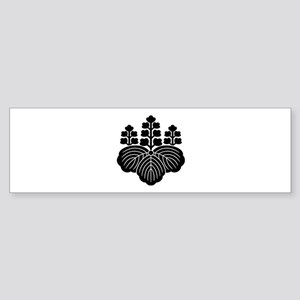 Paulownia with 5-7 blooms Sticker (Bumper)