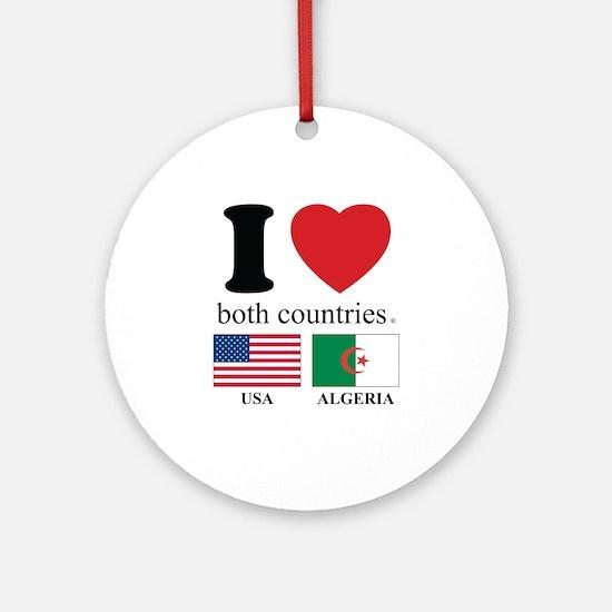 USA-ALGERIA Ornament (Round)