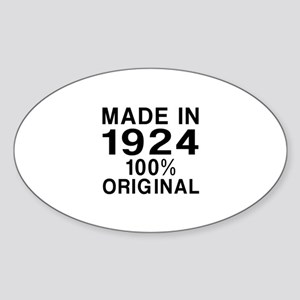 Made In 1924 Sticker (Oval)