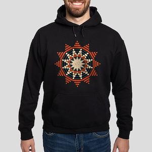 Native American Sunburst Rosette Hoodie (dark)