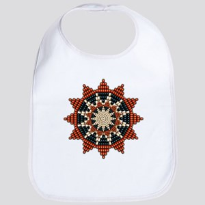 Native American Sunburst Rosette Bib