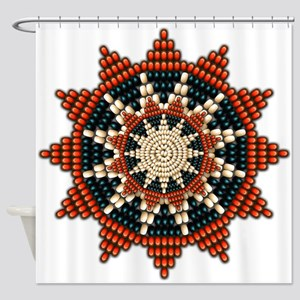 Native American Sunburst Rosette Shower Curtain