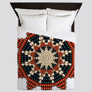 Native American Sunburst Rosette Queen Duvet