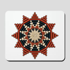 Native American Sunburst Rosette Mousepad