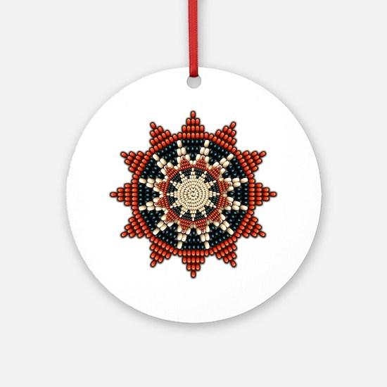 Native American Sunburst Rosette Ornament (Round)