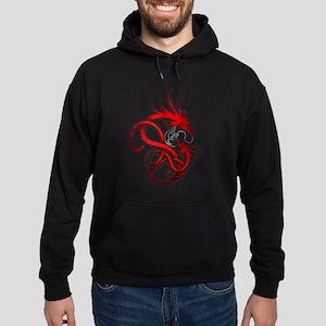 Norse Dragon - Red Hoodie (dark)