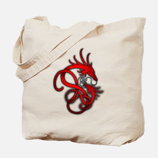 Norse Dragon - Red Tote Bag