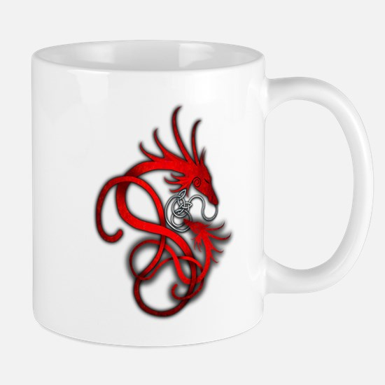 Norse Dragon - Red Mug
