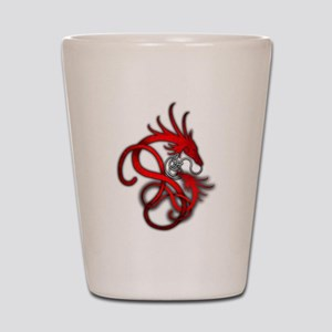 Norse Dragon - Red Shot Glass