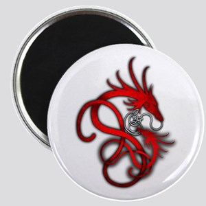 Norse Dragon - Red Magnet