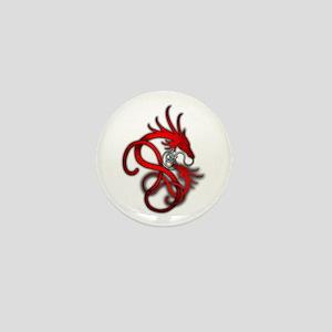 Norse Dragon - Red Mini Button